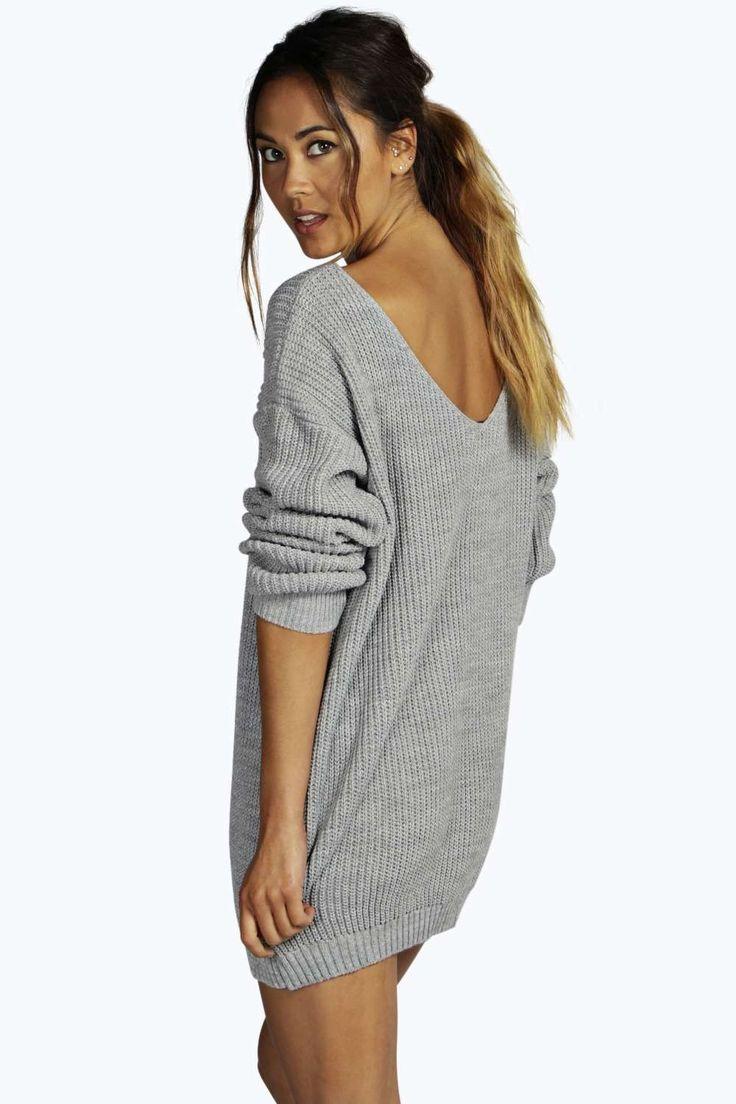 Aubree Robe Pull Mini À Dos En V