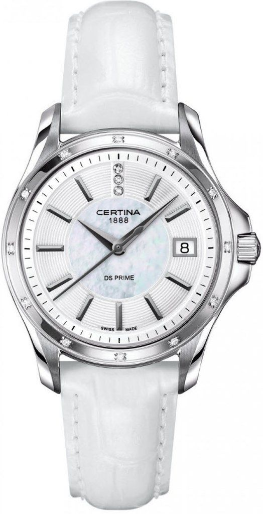Certina Watch DS Prime Lady Round Quartz #bezel-diamond #bracelet-strap-leather #brand-certina #case-material-steel #case-width-32mm #date-yes #delivery-timescale-7-10-days #dial-colour-white #gender-ladies #luxury #movement-quartz-battery #official-stockist-for-certina-watches #packaging-certina-watch-packaging #style-dress #subcat-ds-prime-lady #supplier-model-no-c004-210-66-116-00 #warranty-certina-official-2-year-guarantee #water-resistant-100m