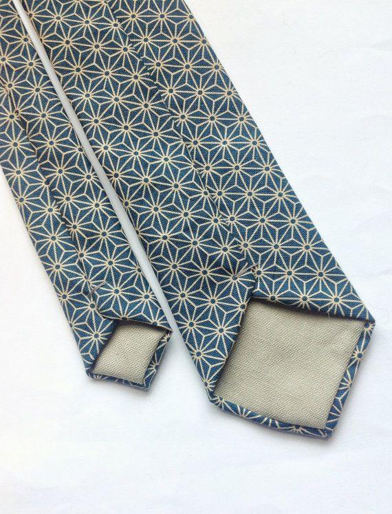 Mens skinny tie geometric print turquoise skinny tie by BeauTieUK