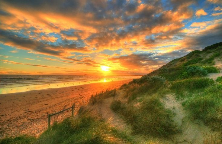Ocean Grove Sunset by *DanielleMiner on deviantART ~ Victoria, Australia