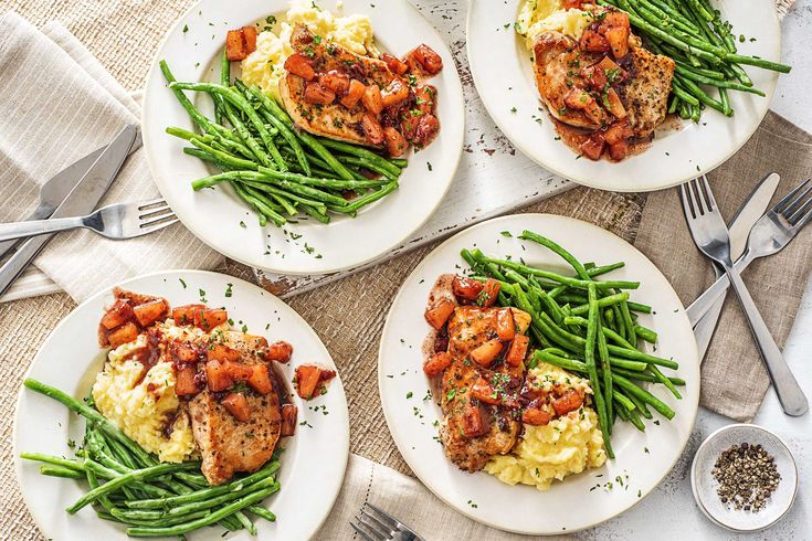 Pork chops with cranberry and pineapple