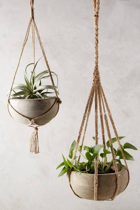I could probably figure this out...  Kiri Wood Hanging Planter #anthroregistry