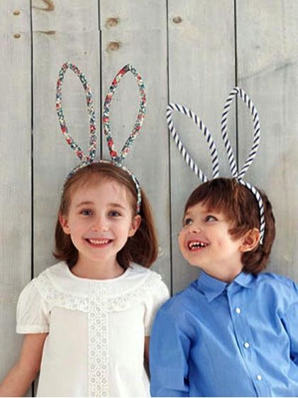 Make Super Cute Fabric + Wire Bunny Ears For Your Kids