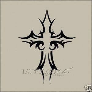 Reusable Airbrush Temporary Tattoo Stencils Cross Medium Size | eBay