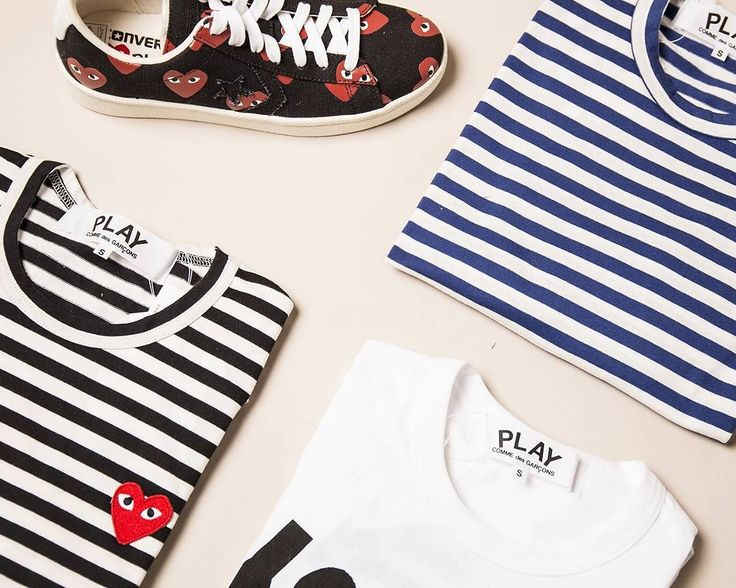 PLAY with our CDG range ♥. Online now - link in bio. seftonfashion #commedesgarcons #commedesgarconsplay #menswear #scandi #scandistyle #instastyle #ootd #outfitsquare #sneakers #sneakersmurah #nautical