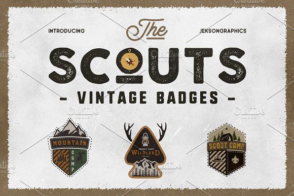 The Scouts & Camping Badges by JeksonGraphics on @creativemarket