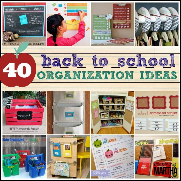 I dpnt have to think about this for a few years, but i really admire folk that are this organised. Didn't say i want to be them. Just admire them! back to school organization ideas