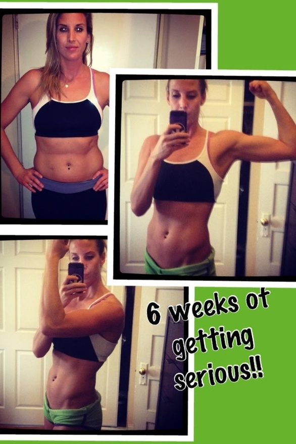 SIX WEEKS of nutrition and resistance training...unreal.  SO proud of my clients who DECIDE to take control of their body and self image.  BOOM!!  If youre ready for results like this, holler at your girl!!!  mailto:TeamSexy24...