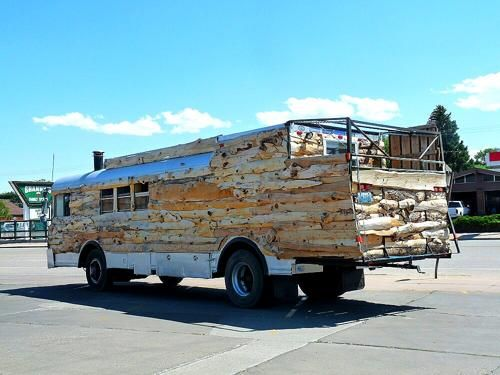 Unique Wooden RV Bus with Custom Back Porch – RV Mods – RV Guides – RV Tips | DoItYourselfRV