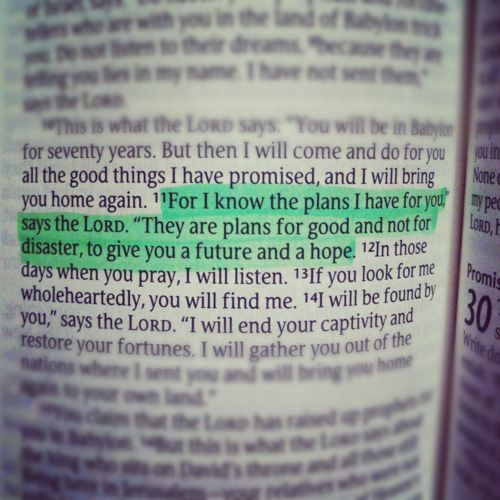 His will is ALWAYS for my good. Jeremiah 29:11