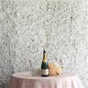 4 PCS White Silk Hydrangea Flower Mat Wall Backdrop Photography Panel Photo Booth Wedding Event Decor