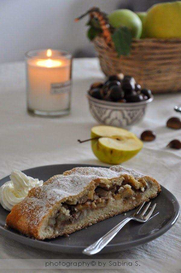 Due bionde in cucina: Strudel con ripieno di castagne e mele