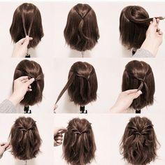 Bom dia! Mais um penteado fácil e que fica lindo! #hairstyle #hair #cabelo #cabelolongo #cabelocurto #inspiracao #penteados #penteadofacil #penteadosdivas #penteadosfaceis #meucabelo #penteadosimpleselindo #penteadosimples #igblogs16 #belezastylee #vireiinspira #inspirei16 #instablogdivul