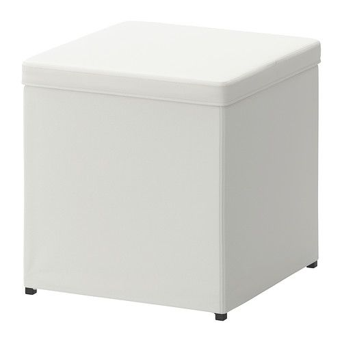 BOSNÄS Footstool with storage IKEA The cover is easy to keep clean as it is removable and can be machine washed. Works as an extra seat or f... 14.99