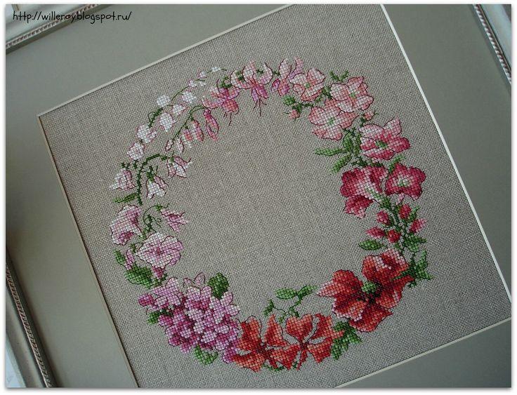 Меланжевые кружева: Розовый венок V. Enginger.