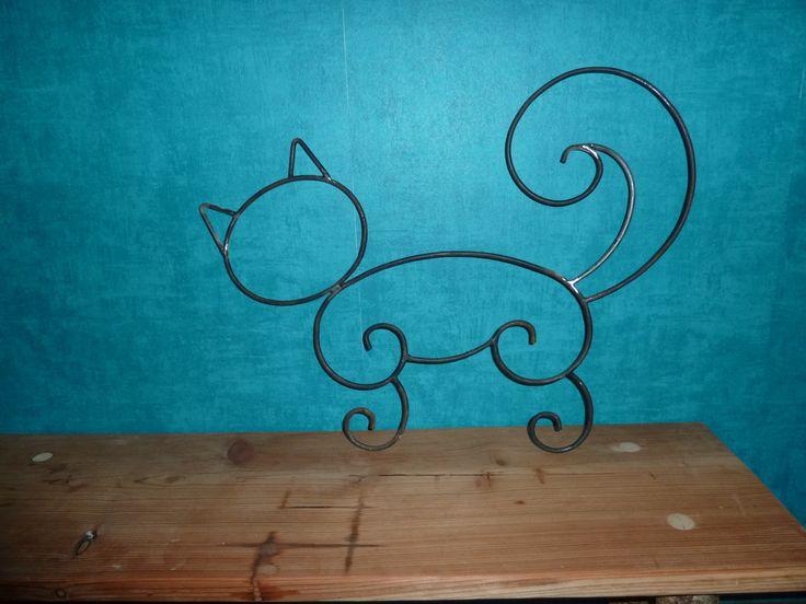 Renard en fer forg peint pour d coration de jardin chats persans gros chat et persan - Deco jardin fer forge toulon ...