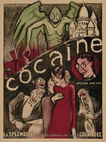 Cocaine the Musical. Off-the-charts poster from 1925. Those crazy kids...
