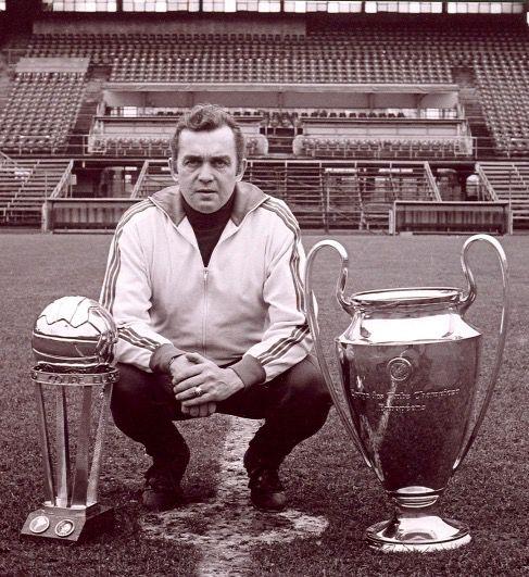 Trainer Ernst Happel ( Feijenoord )