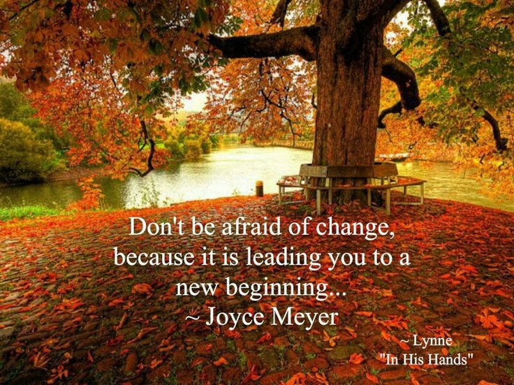 Don't Be Afraid To Change Because Its Leading You To New