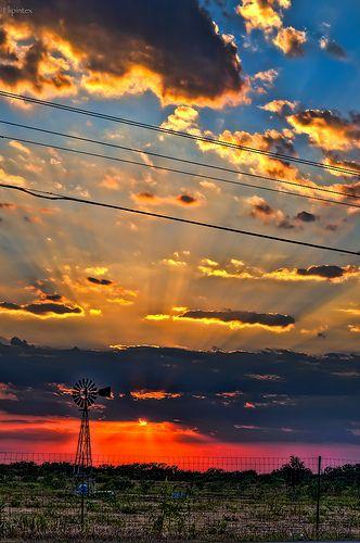 New Braunfels, Texas sunset