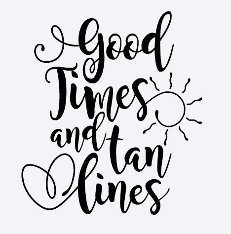 Good Times and Tan Lines Decal, Summer Decal, Beach Decal, Good Times and Tan Lines Sticker, Car Decal, Yeti Decal, Yeti sticker by BrownEyedCuties on Etsy