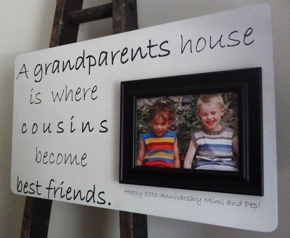 Custom 22 x 13 Picture Frame Anniversary Grandparents ... Quotes About Cousin Sisters Love