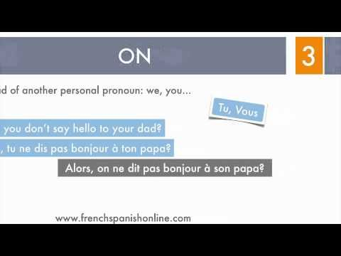 The Pronoun ON in French