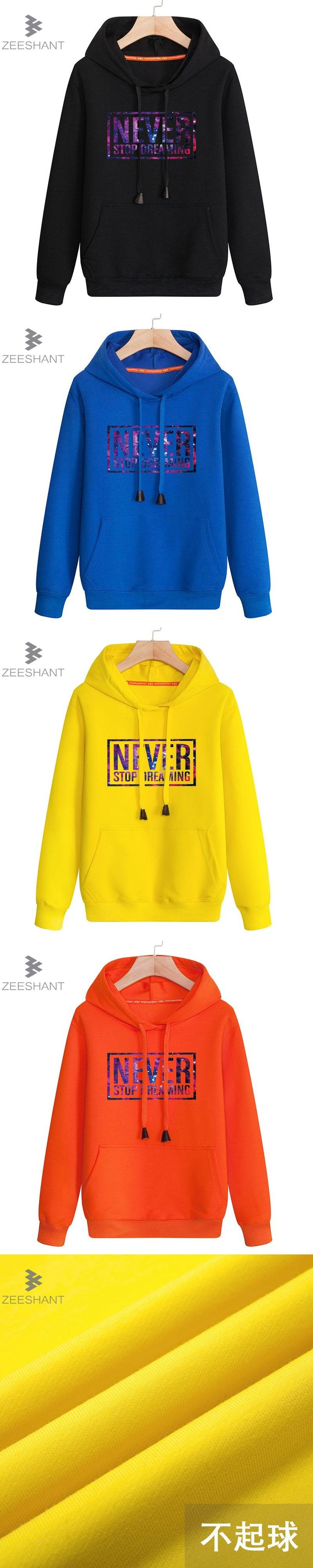 Brand Cotton Men Sweatshirts Long Sleeve Hooded Autumn and Winter Letter Print Hoodie Casual Fashion Men's Coat Yellow Jersey