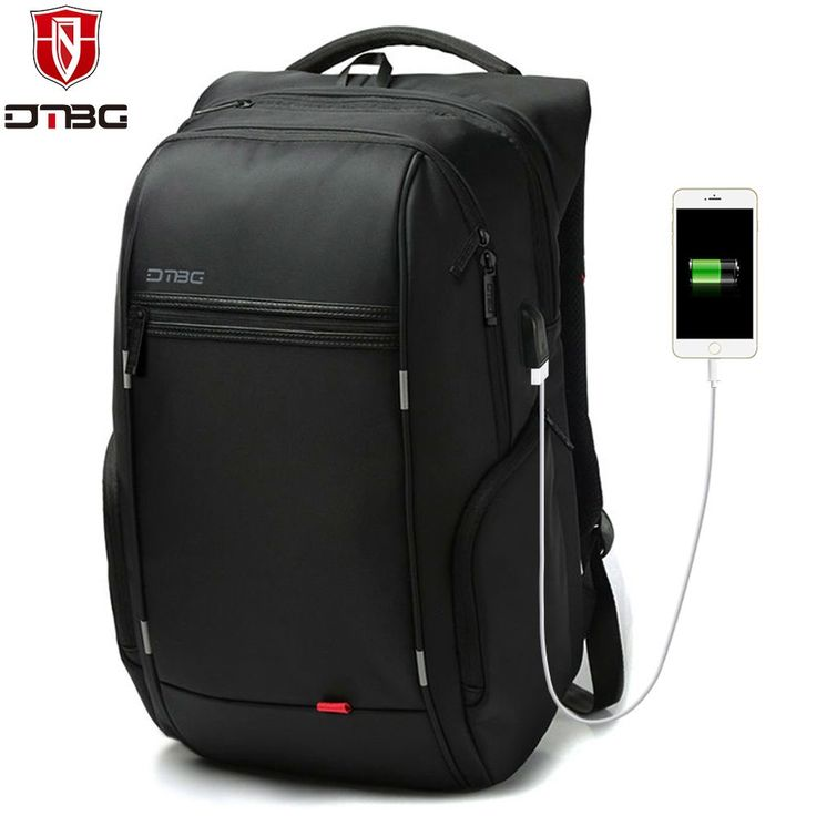DTBG Backpack Men Women 15.6 17.3 School Backpacks with USB Charge Port Waterproof Travel Bags Anti-theft Laptop Bag for Macbook //Price: $41.58//     #shop