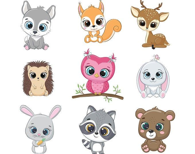 Cute Dog Clipart Eps Png Jpeg Pets Clipart Cute Animal Clipart Doggy Clipart In 2021 Baby Animal Drawings Animal Clipart Cartoon Baby Animals