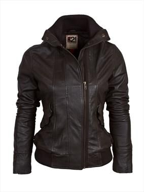 IL2L womens leather bomber jacket with funnel neck 130.00 Discover and share your fashion ideas on misspool.com