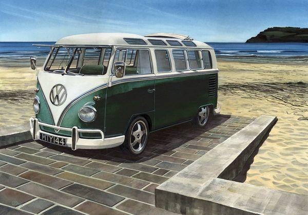 """003CV051 - Beach Bum  16"""" x 12"""" Print Only £12.99 9.5"""" x 6.5"""" Mounted to 14"""" x 11"""" - £12.99"""