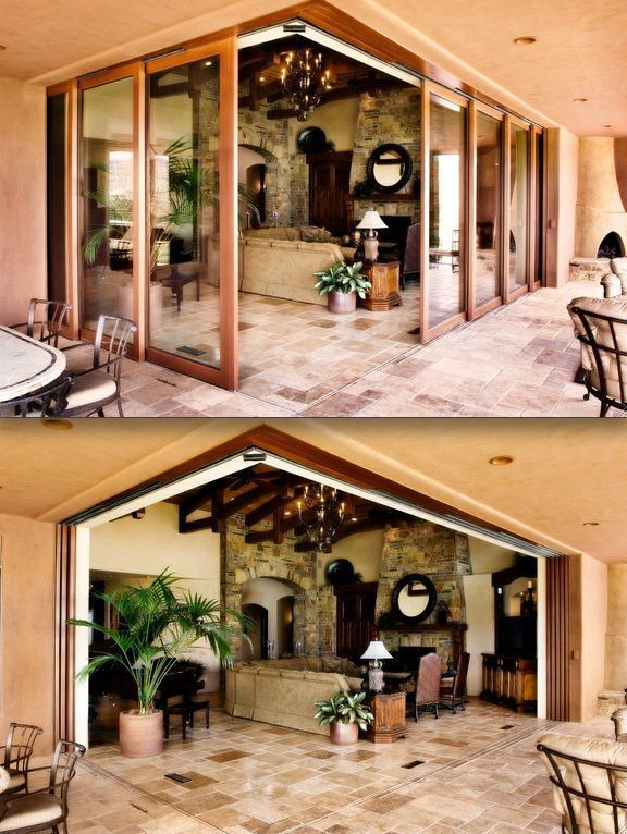Corner Multi Side Automated Doors That Let You Turn The Inside Completely Out Moving Walls Custom Sliding Doors House Design