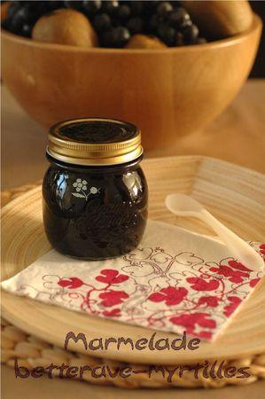 Marmelade betterave-myrtilles