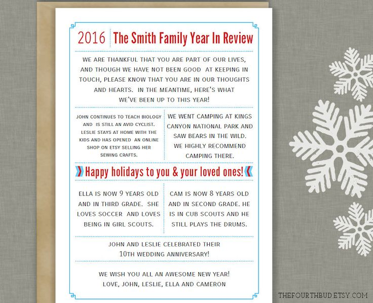 40 best christmas newsletter and year in review templates images on 5x7 year in review christmas letter template in pdf for adobe reader this spiritdancerdesigns Gallery