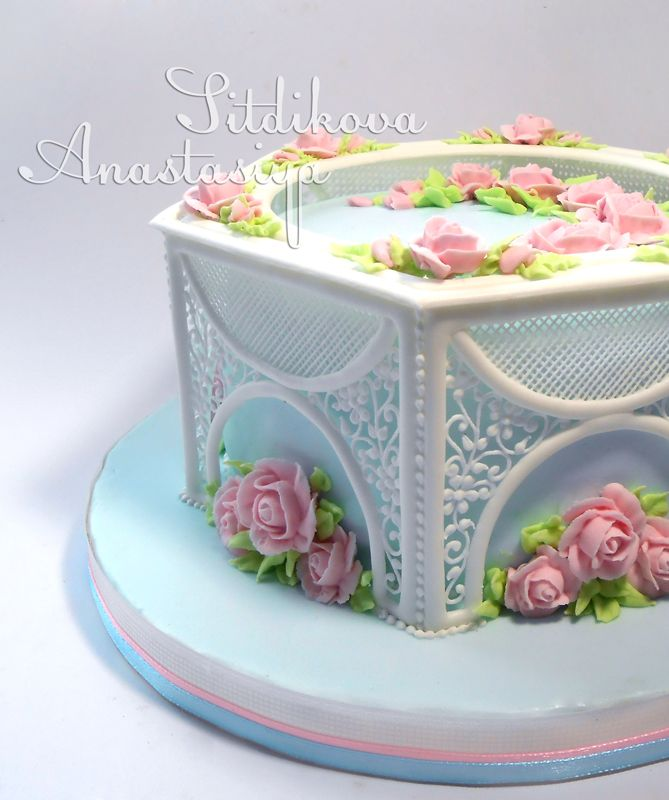 Anniversary Cake by  NastasyaS  Cake Central gorgeous royal icing work.....