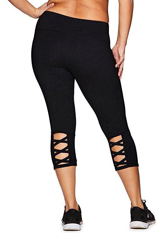 304af33910782 Amazon.com: RBX Active Women's Plus Size Cotton Spandex Fashion Workout  Yoga Capri Leggings: Clothing