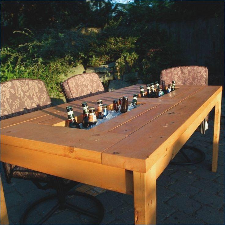 Round Garden Table Diy Build Diy Patio Furniture Diy Patio