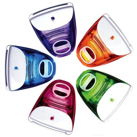 The first iMac was released in the 1990s. The Apple iMac G3 was the first model, this came in many different colors,and was a test run for the iMacs that we use today