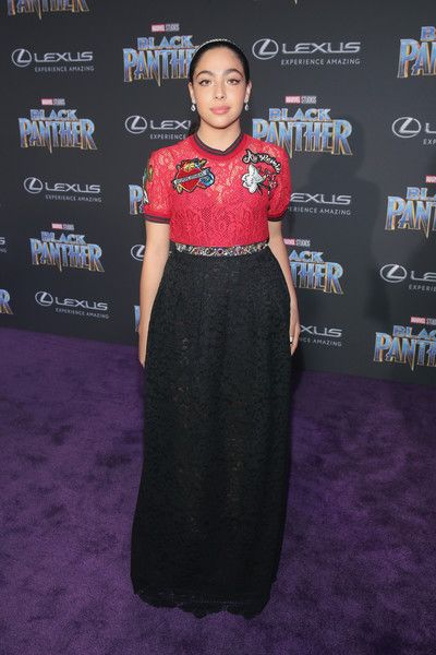 Allegra Acosta Photos - Actor Allegra Acosta at the Los Angeles World Premiere of Marvel Studios' BLACK PANTHER at Dolby Theatre on January 29, 2018 in Hollywood, California. - The Los Angeles World Premiere of Marvel Studios' 'Black Panther'