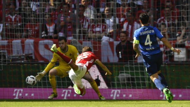 Bundesliga: Die schönsten Fotos vom Bundesligaspiel zwischen dem FC Bayern und dem SV Darmstadt 98.