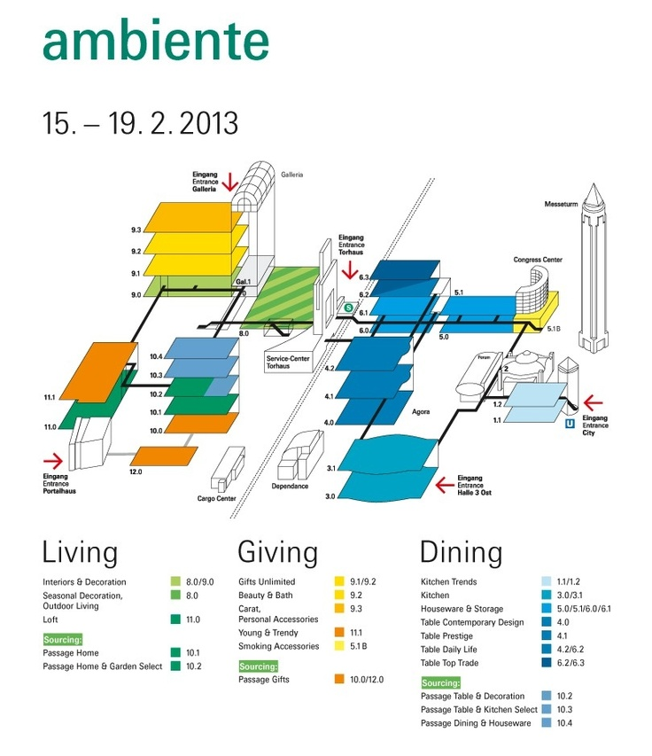 Ambiente 2013 - Frankfurt from 15 February to 19 February 2013, #ABERT and #BROGGI will be in Pad. 3.1 Stand F21