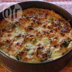 Foto recept: Hartige taart met broccoli en brie