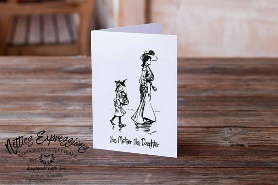 Like Mother Like Daughter Birthday Card Greeting Card Mom
