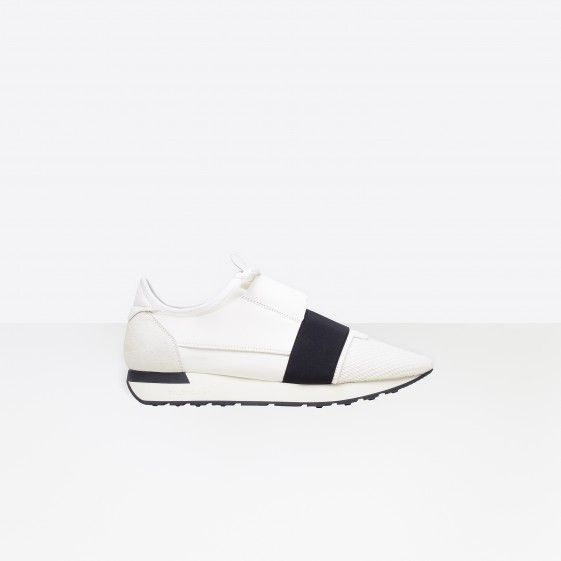 Shop Balenciaga Multimaterial Contrasted Runners White/Black Men in Balenciaga Sale online with Balenciaga Sneakers Sale and Cheap Balenciaga #shoes #runners #sneakers #lifestyle #spring #ss18