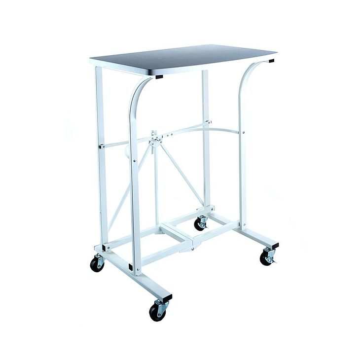 Origami Folding Steel Trolley Table - White