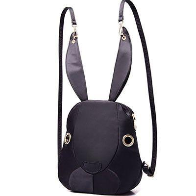 2017 new Cute Rabbit Women Nylon Backpacks Cartoon School Bags Backpacks For Teenage Girls Fashion Casual Lady Bag