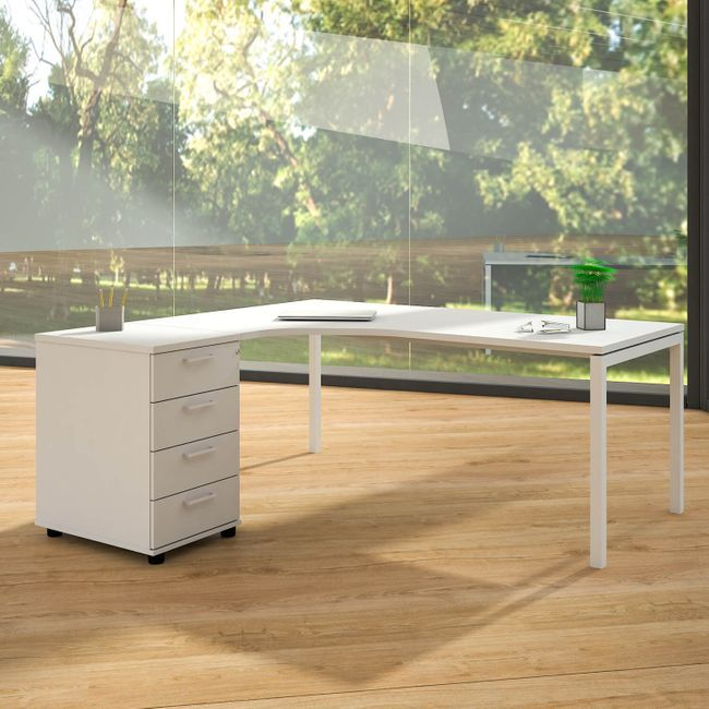 Nova Winkelkombination Mit Standcontainer Winkel Links 1800 X 1630 Mm Weiss Buroeinrichtung Kaufen Bei Weberburo Winkelschreibtisch Schreibtisch Ecke Schreibtisch