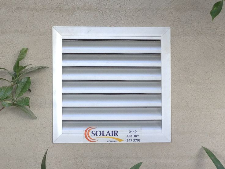 SolarWhiz subfloor ventilation vent with the Solair seal of approval #solair