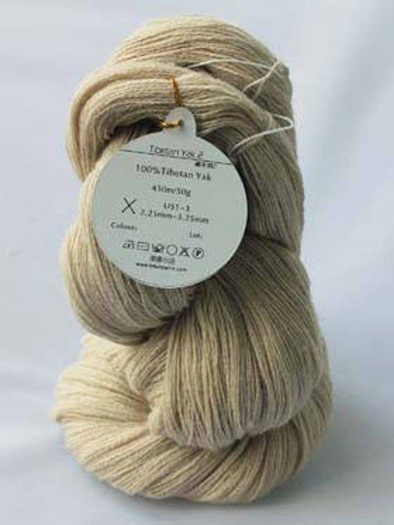 Undyed Tibetan Yak Yarn – 450m/50g/skein Knitting / Weaving Yarns – Fils de Yak tibétain pour tricoter ou tisser